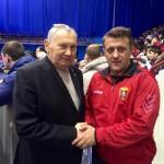 Легендата Медвед Александар и шефот на стручниот штаб на БК Вардар проф. Пешко
