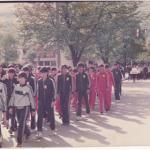 Дефиле на учесниците на Олимпијадата низ улиците во Фоча, 1985 г