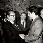 Димче Беловски, лево, со највисокото државно и партиско раководство на Југославија