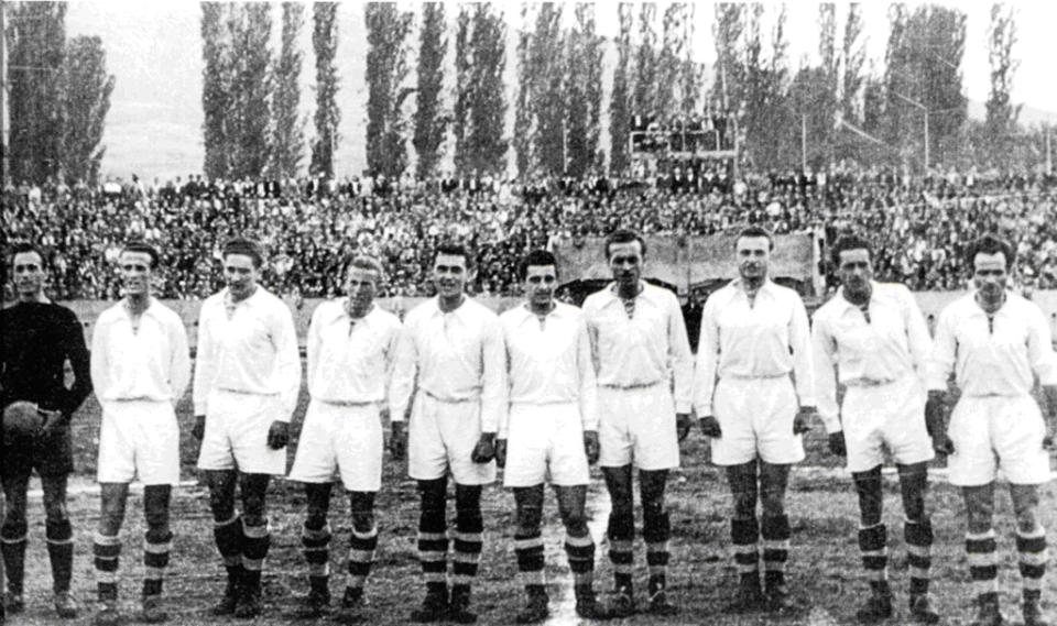 Првиот ноќен натпревар во Скопје.ФК Македонија со Работнички (1946 година)