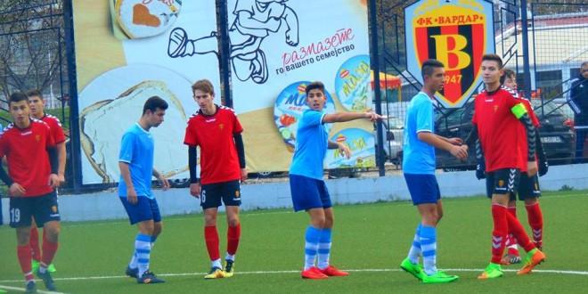 Четворица играчи од Вардар дел од младинската фудбалска репрезентација до 16 години, за контролните натпревари со Кипар