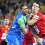 during the EHF EURO Croatia 2018 - Preliminary round -  Group C - Fyr Macedonia vs Slovenia in Arena Zagreb, Zagreb, Croatia, 13.1.2018, Mandatory Credit © HRS / Nebojsa Tejic