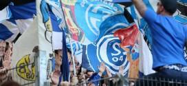 (ФОТО) Кога игра Шалке секогаш се вејат знамиња на Вардар