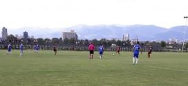 Првиот тим на ФК Тетекс, подобар од младинците на Вардар, на контролен меч одигран во Скопје