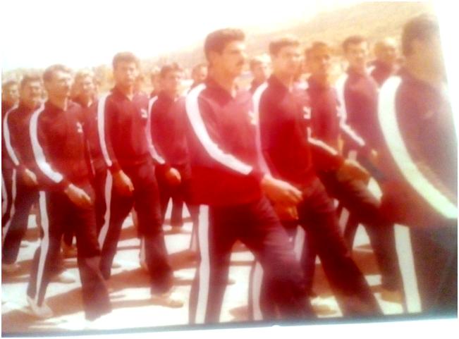 Трајковски Момчило (претпоследен), во екипата на Скопската армиска област