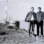 Сотир Гавриловски (лево) и авторот на статијата, на Водно, 1969 година