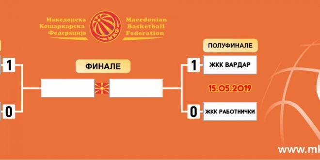 ЖКК Вардар лидер по регуларниот дел, започнува со предност 1-0 во плеј-офот против Работнички