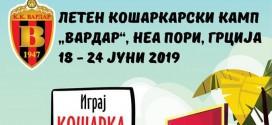 Кошаркарскиот клуб Вардар ќе организира летен камп