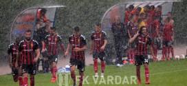 Дождот ја прекина доминацијата на Вардар