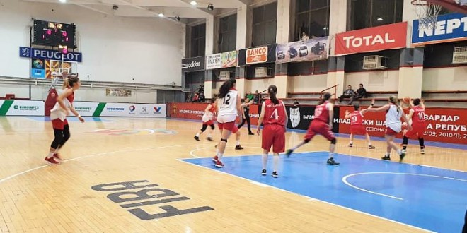 """ЖКК Вардар """"гази"""" сигурно во лигата, стигнавме до 5/5 по победата над Пробаскет Академија"""
