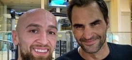 (ФОТО) Дибиров и Федерер се фотографираа во  Дубаи