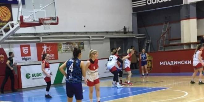 (ФОТО) Мелиса дебитираше за ЖКК Вардар на  тест-меч со Приштина