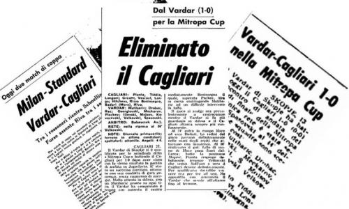 """""""Црвено-црните"""" го совладаа италијанскиот калчолигаш Каљари предводен од легендарниот Луиџи Рива"""