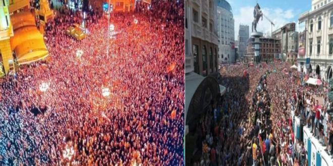 (ВИДЕО) Вардар ја сплоти нацијата – Ерупција од воодушевување и емоции во Скопје