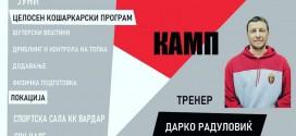 Кошаркарскиот камп на Вардар со триото тренери: Радуловиќ, Јованчев и Крстиќ