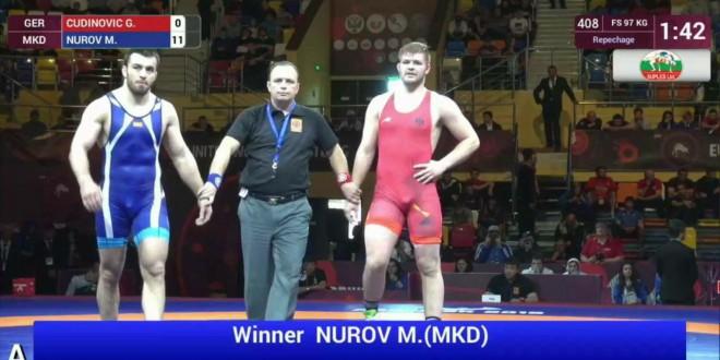 """(ВИДЕО) На денешен ден лани, Нуров со технички туш   во репасаж дојде до """"бронза"""" на ЕП"""
