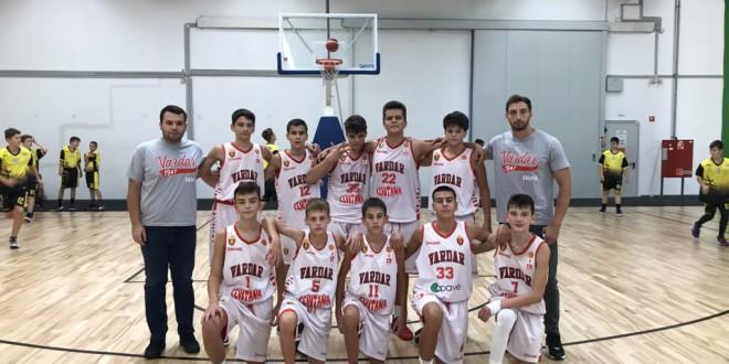 Втора победа на Вардар М14 во Европската младинска кошаркарска лига